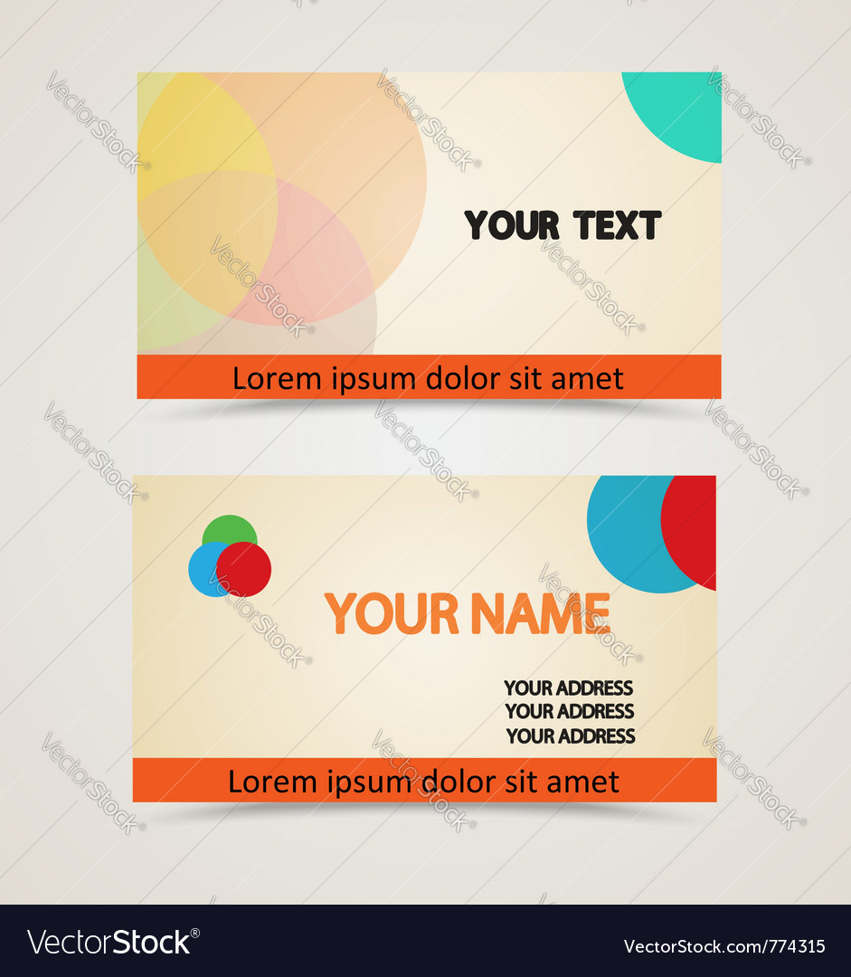 Retro vintage business card Royalty Free Vector Image