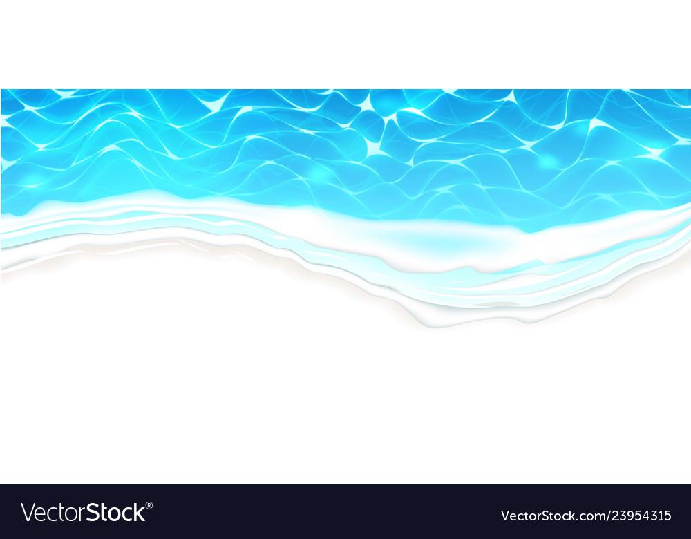 Seaside beach azure waves on coast