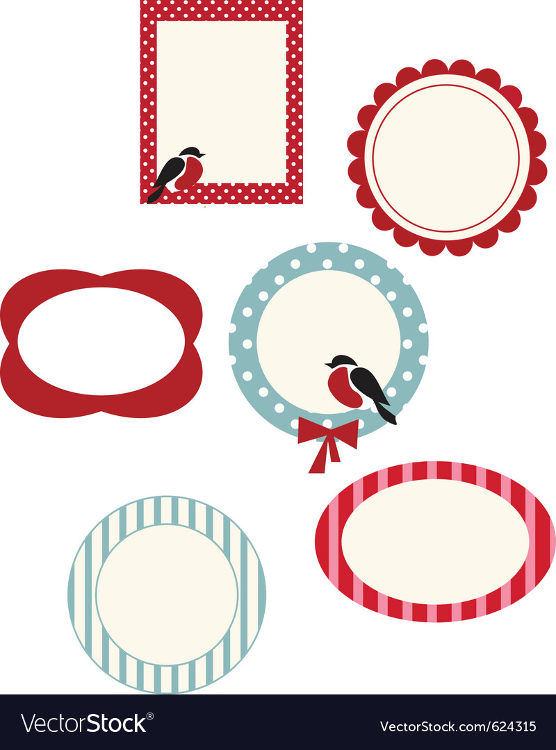 Set of frames for christmas cards Royalty Free Vector Image