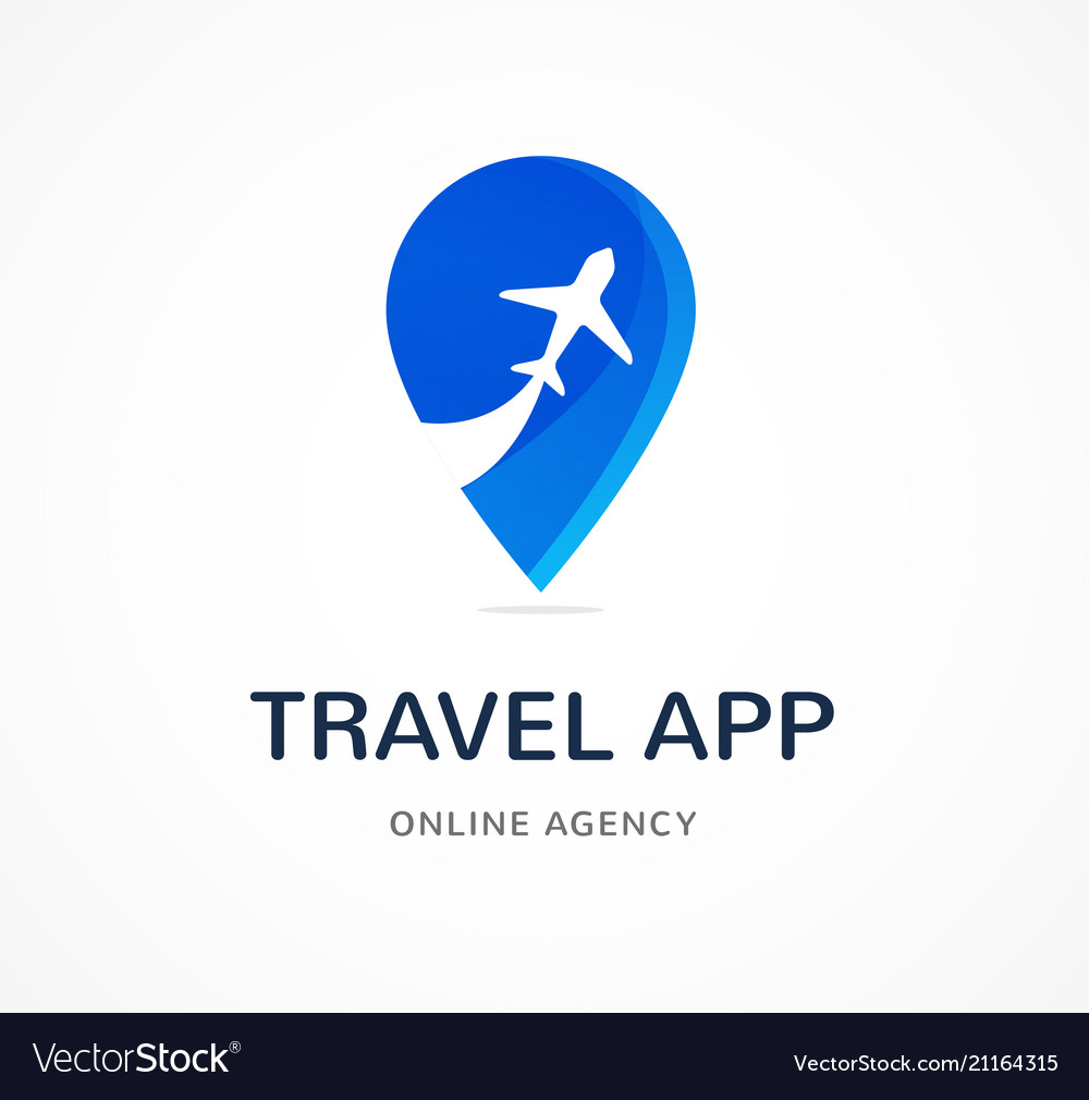 Travel agency tourism app and trips logo