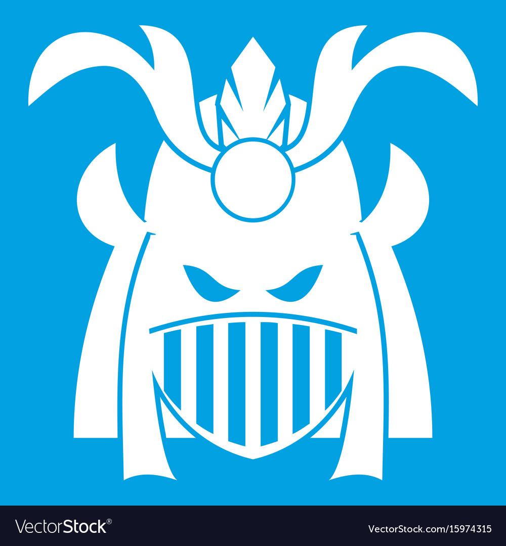 Tribal helmet icon white