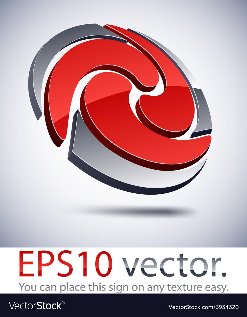 3d modern swirl logo icon royalty free vector image