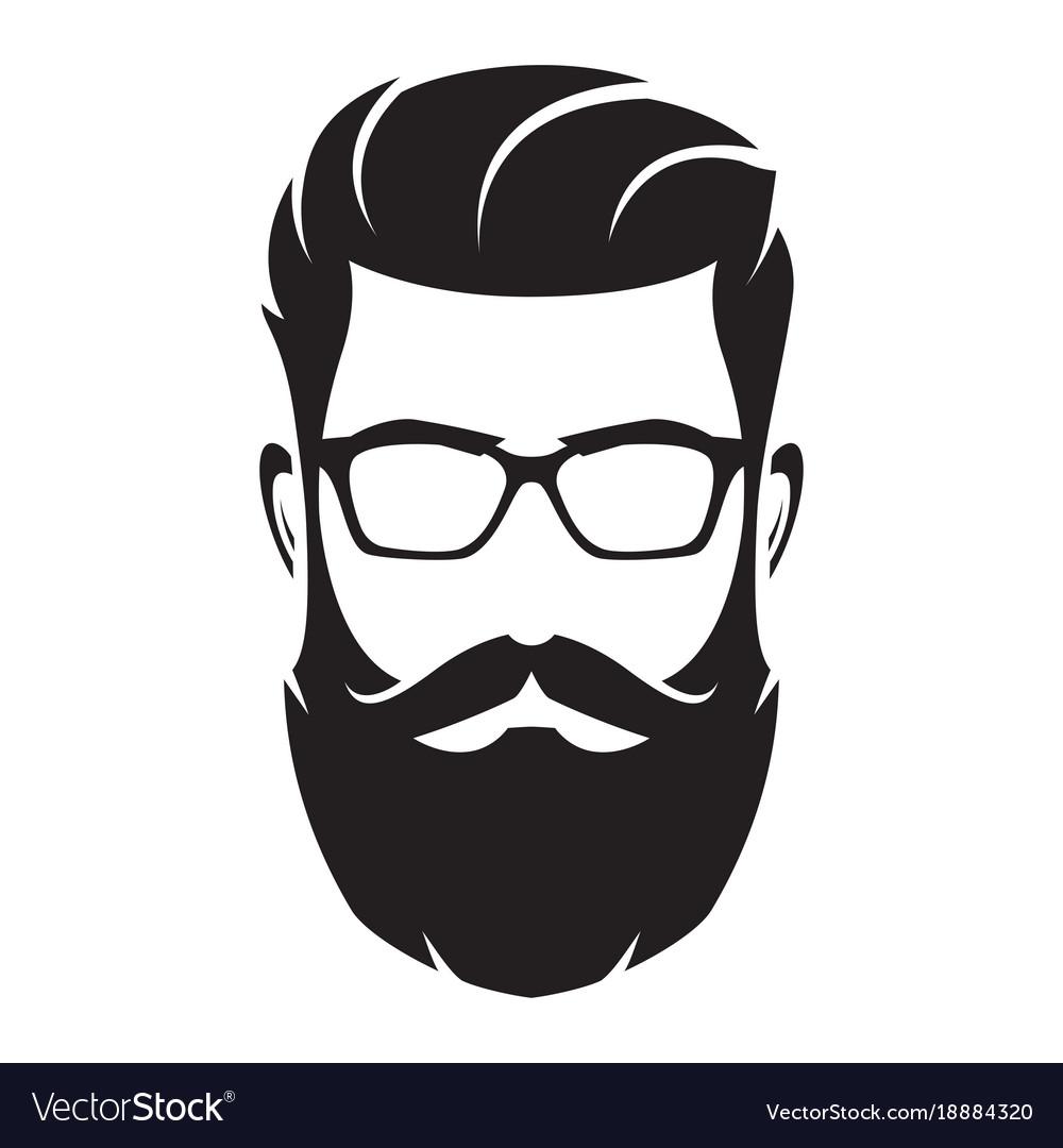 bearded man s face hipster character fashion vector image rh vectorstock com vector facebook facebook logo vector file