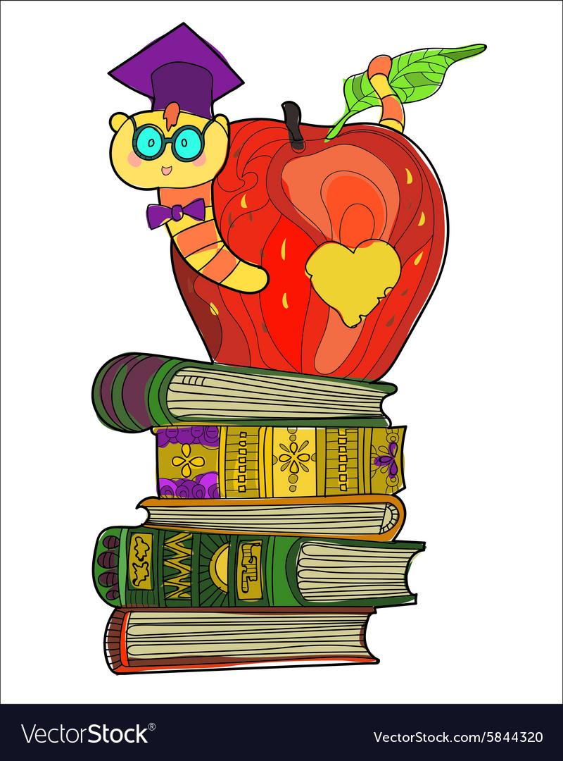 Bookworm doodle