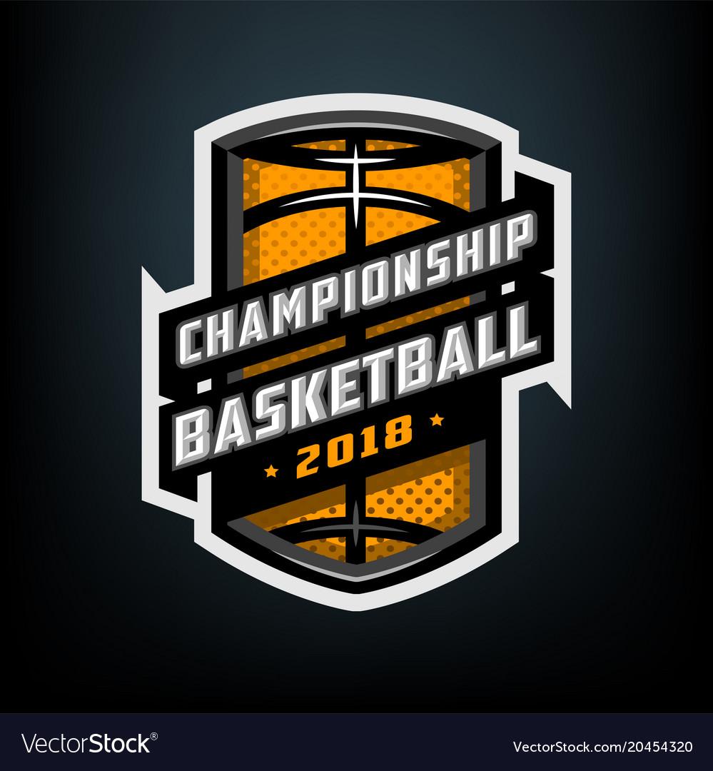 College basketball sports logo emblem