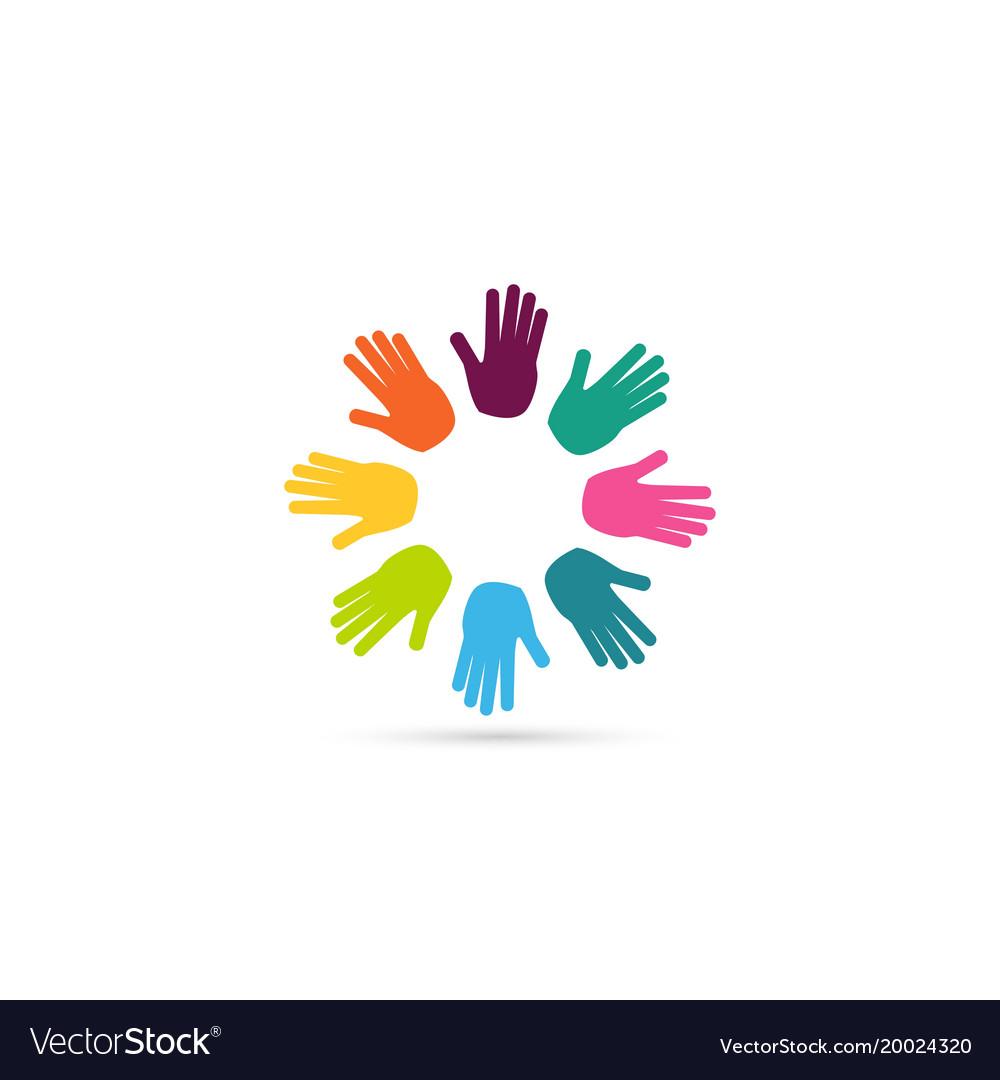Hands together heart symbol