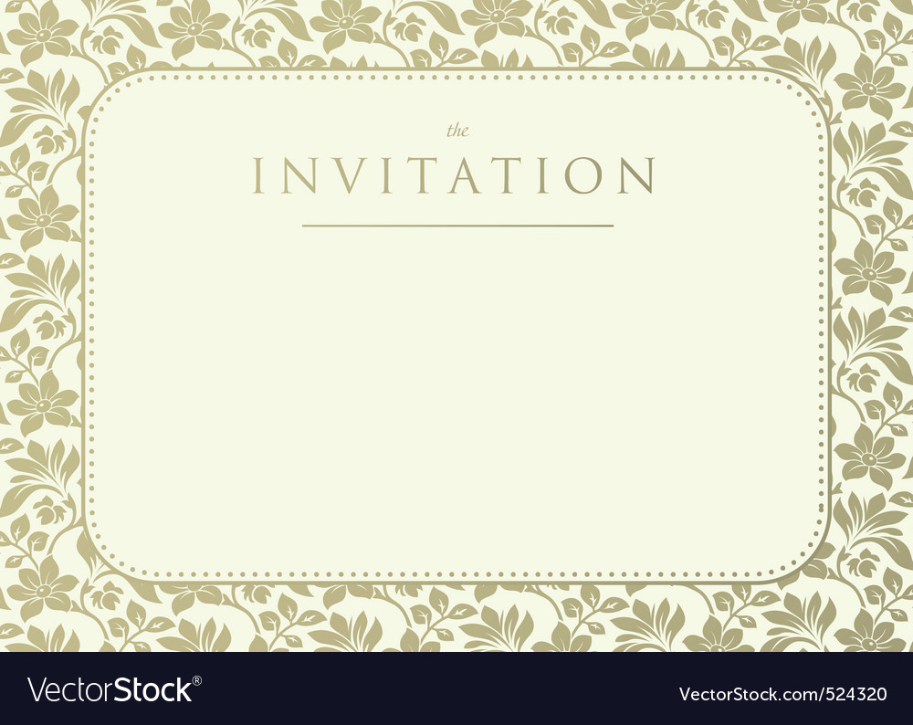 Invitation to the wedding vector image