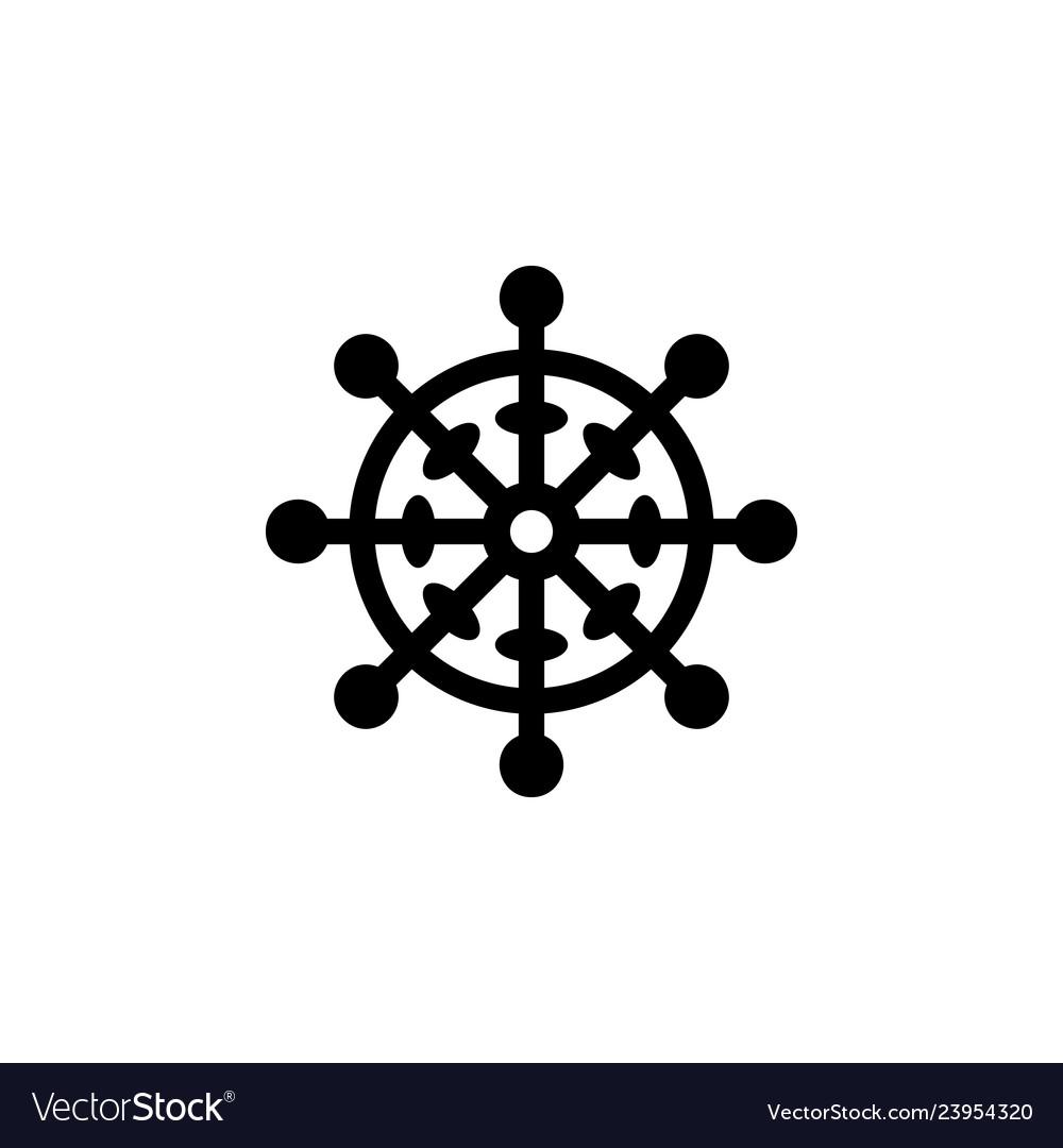 Religion symbol buddhism icon element of religion Vector Image