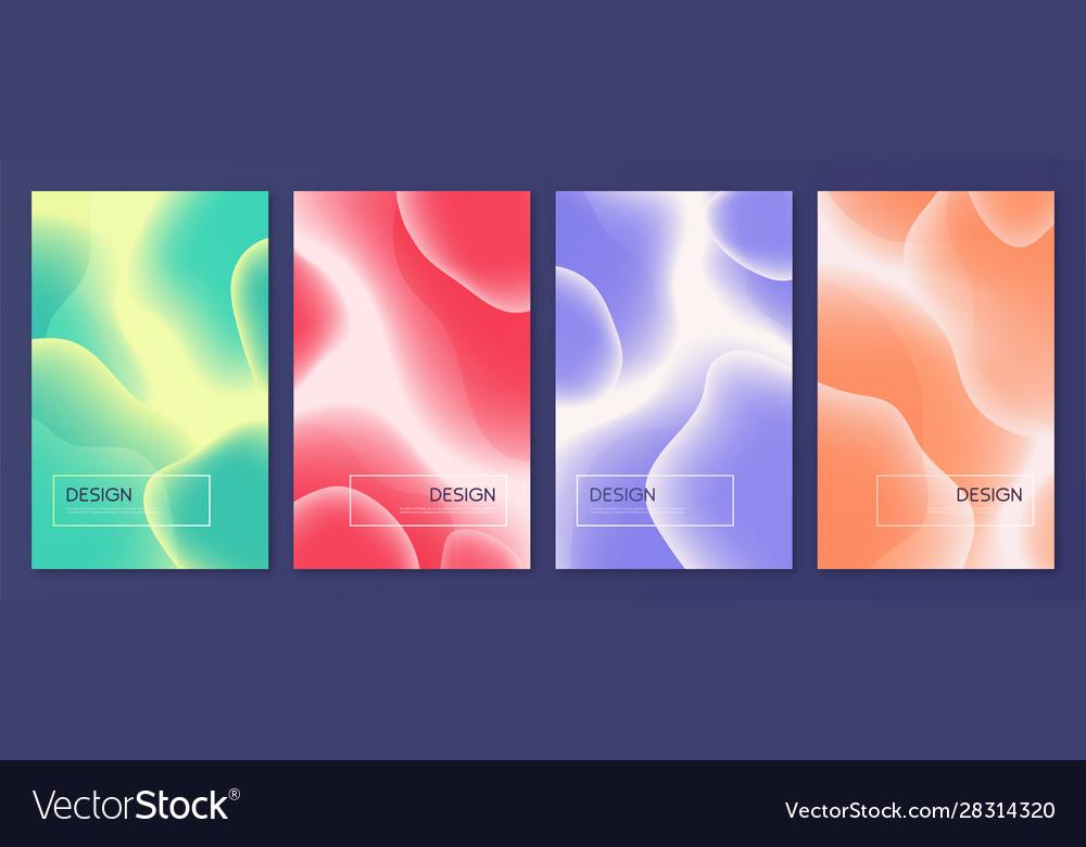 Set abstract minimalist covers brochure