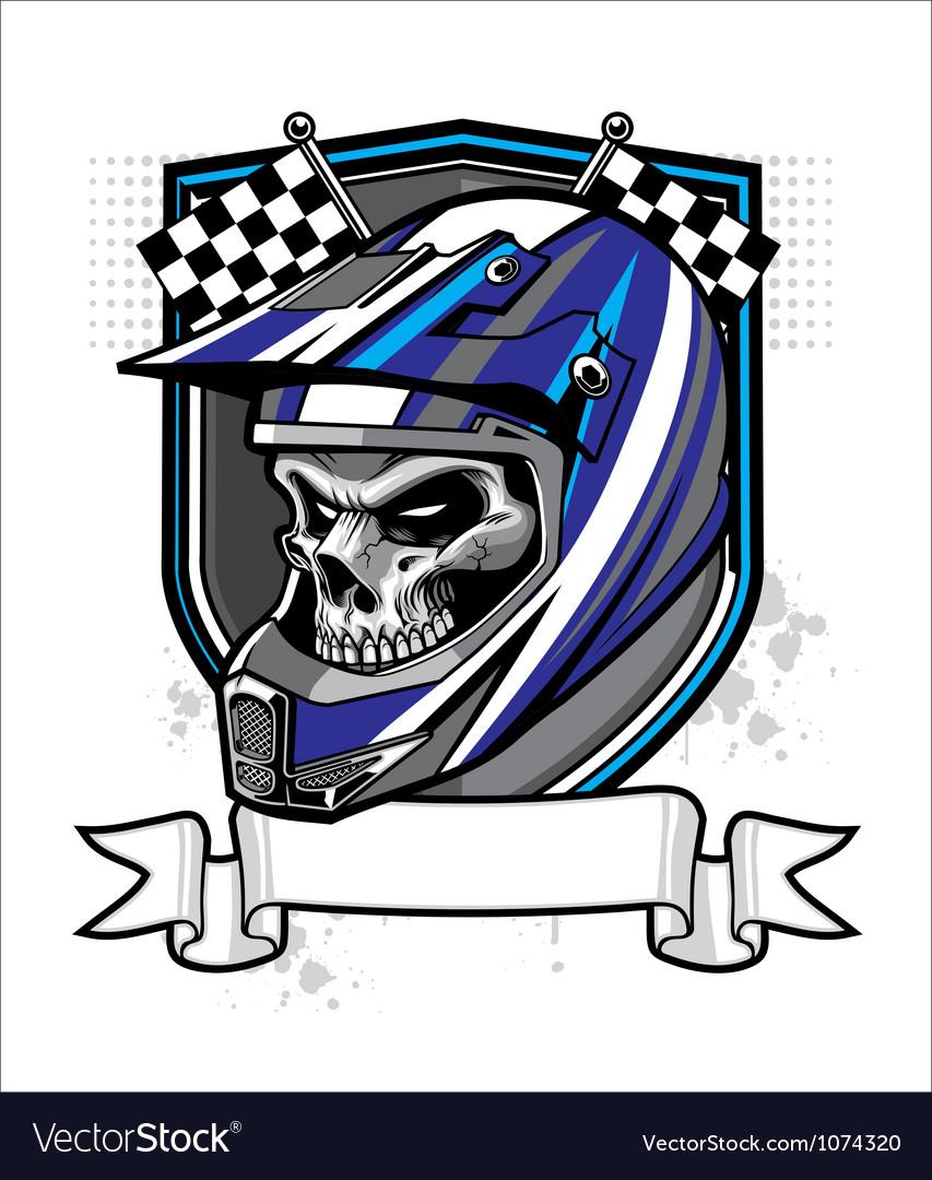 Skull rider vector image