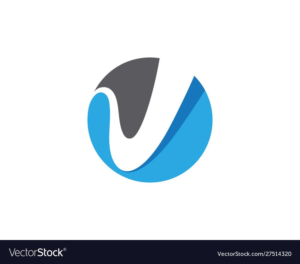V letter logo template icon