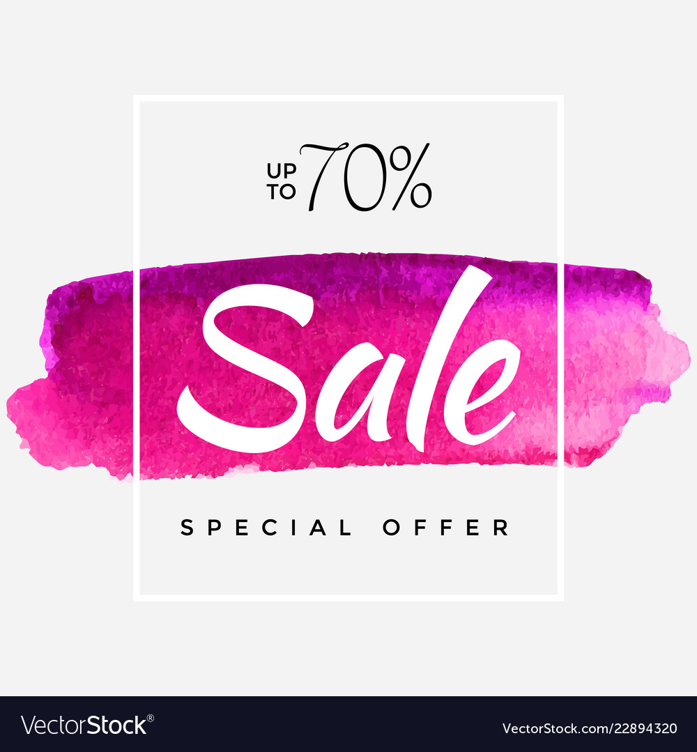 Watercolor special offer super sale flyer banner vector