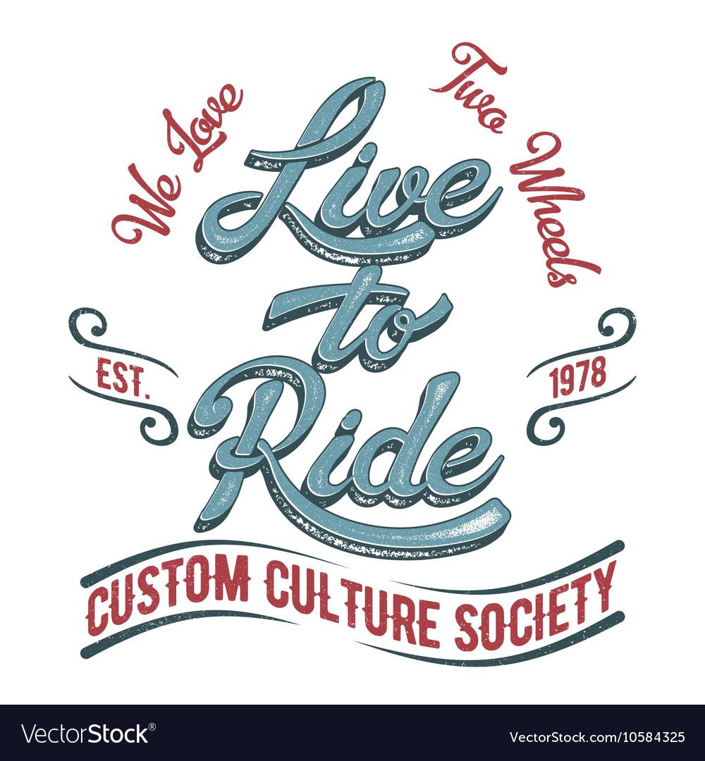 Biker society logo vector image