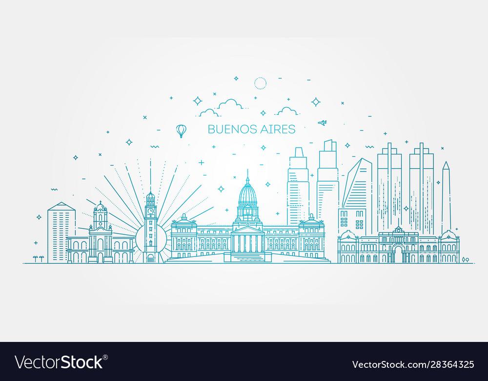 Buenos aires skyline argentina