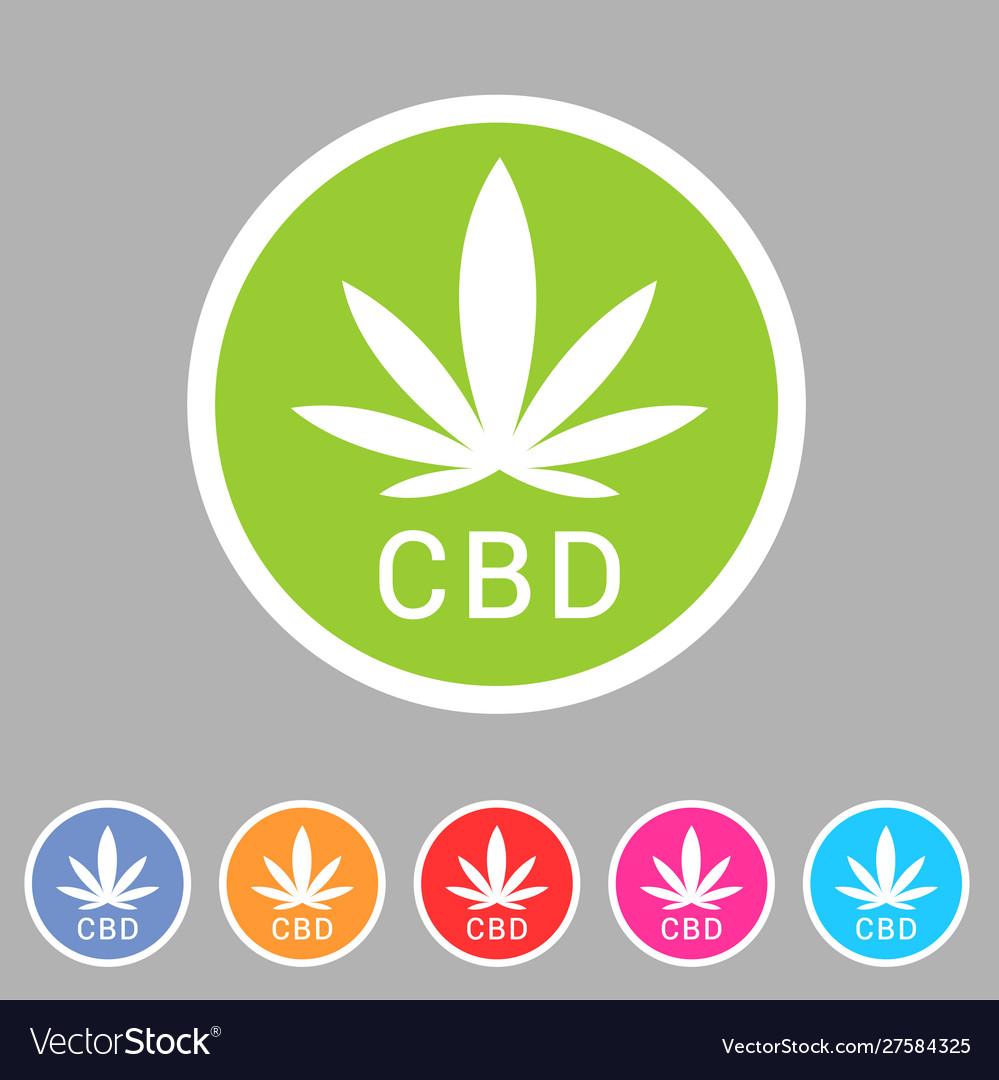 Cbd marijuana cannabis icon flat web sign symbol