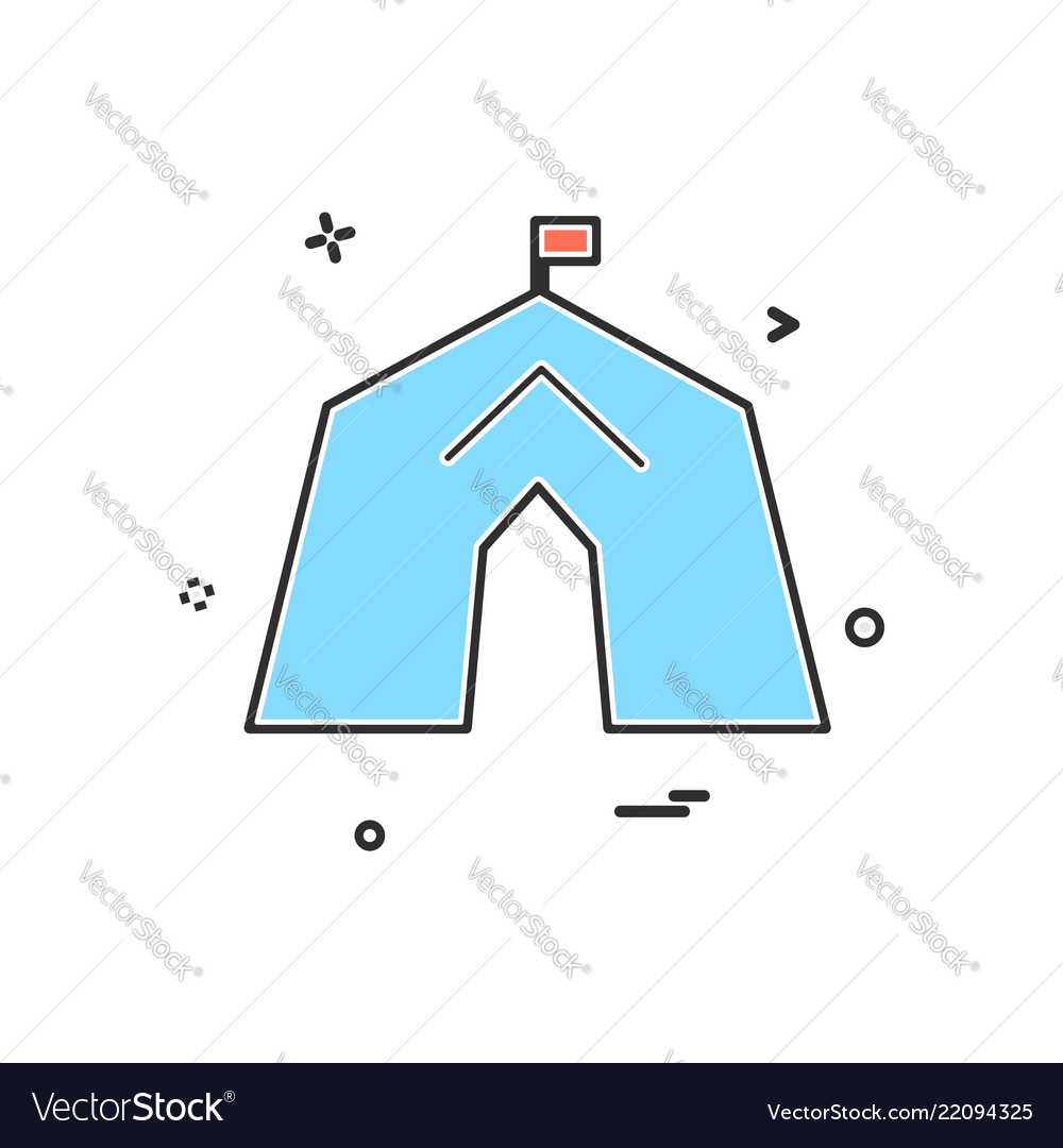 Tent icon design
