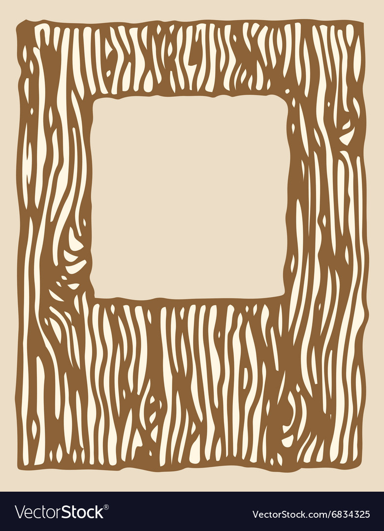 Wood texture photo frame vector image