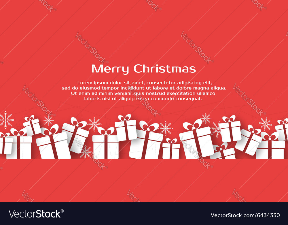 Christmas banner with gift boxes