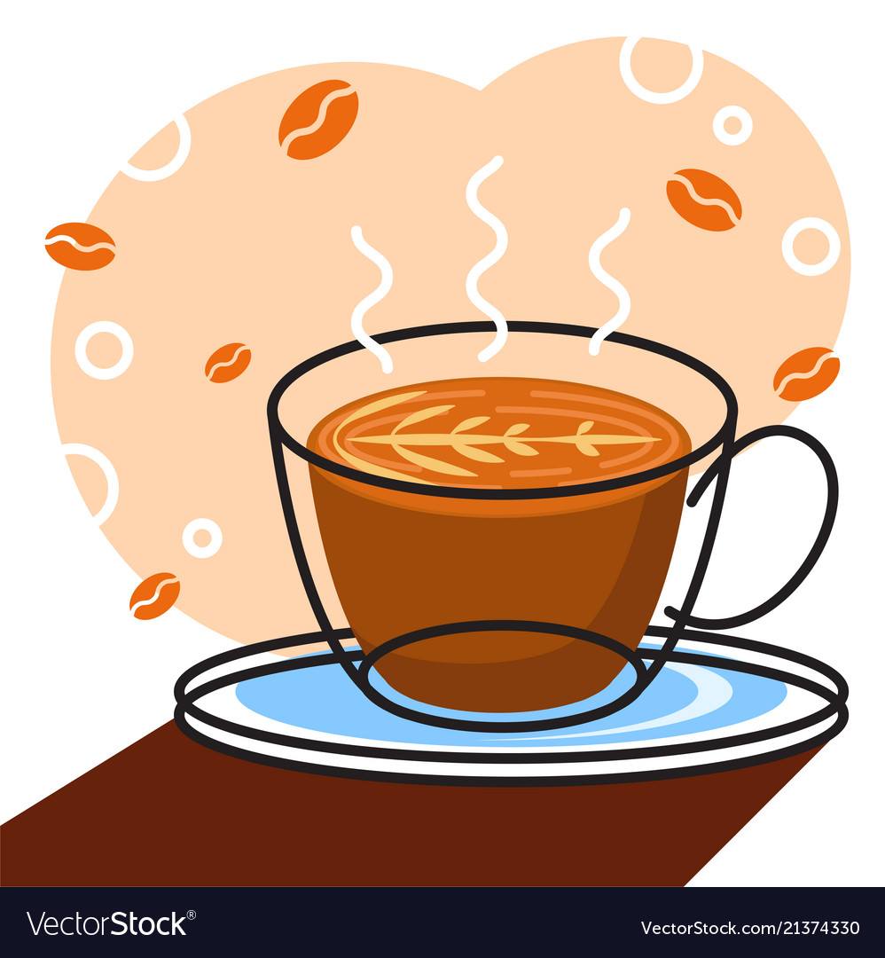 Coffee with white background graphic for