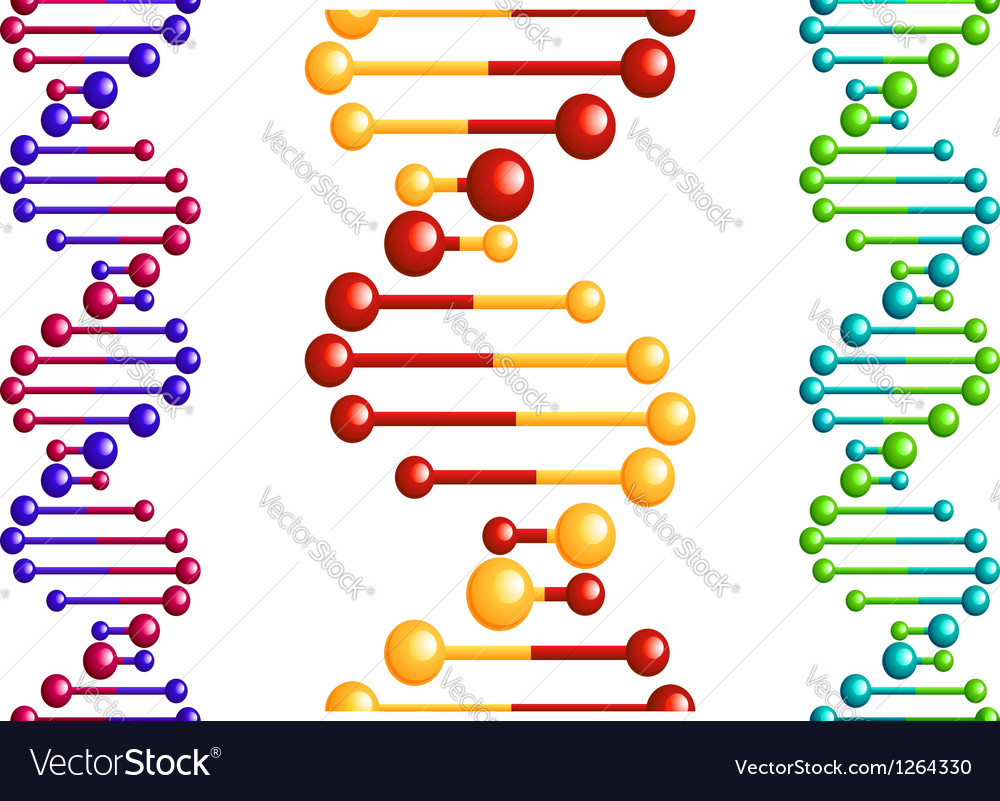 dna molecule with elements royalty free vector image