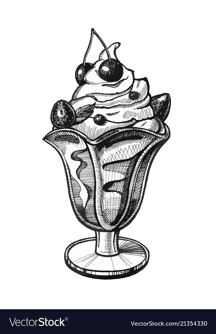 Ice cream hand drawn