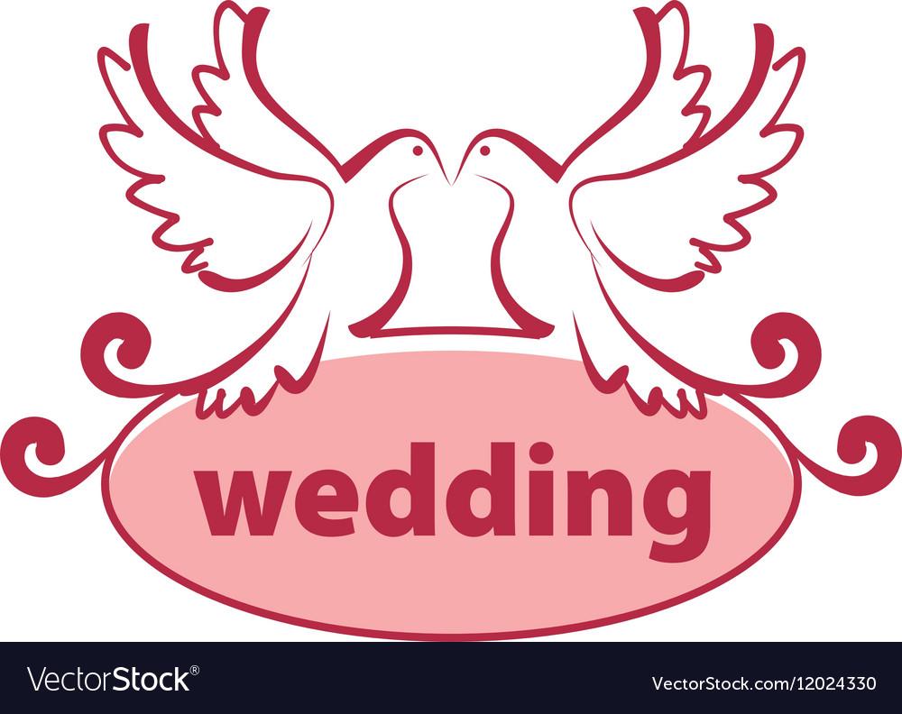 Logo for wedding Royalty Free Vector Image - VectorStock