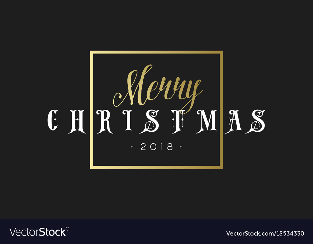 Merry christmas phrase in frame luxury black and