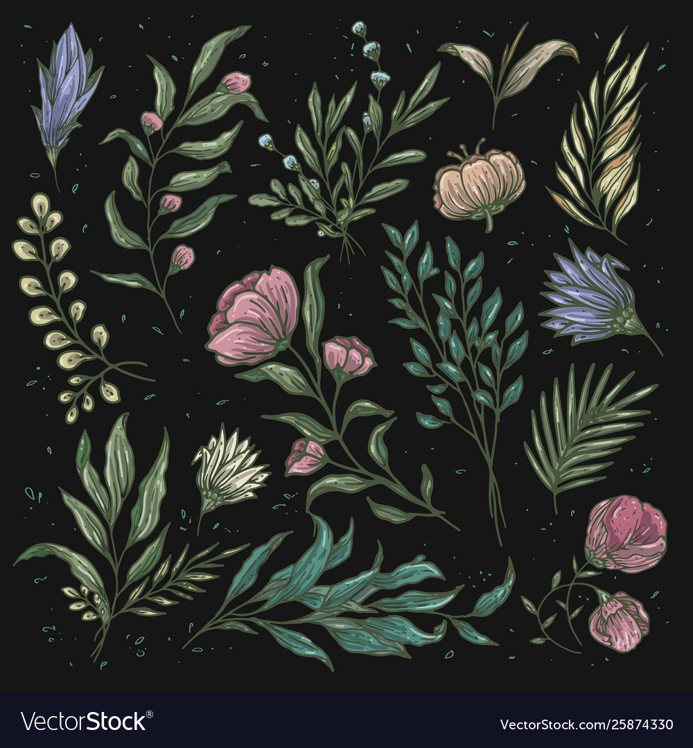 Vintage floral pattern soft color