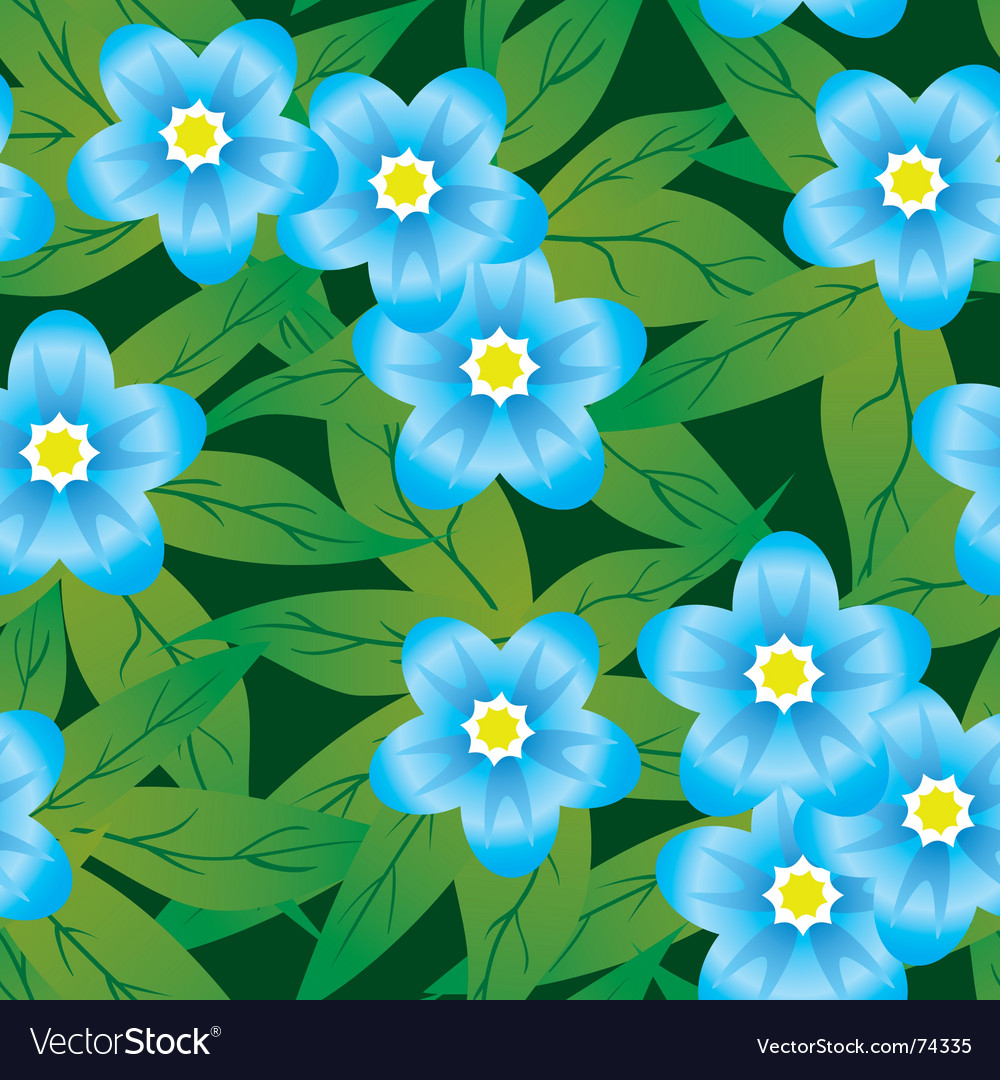 Abstract forget me not's flower