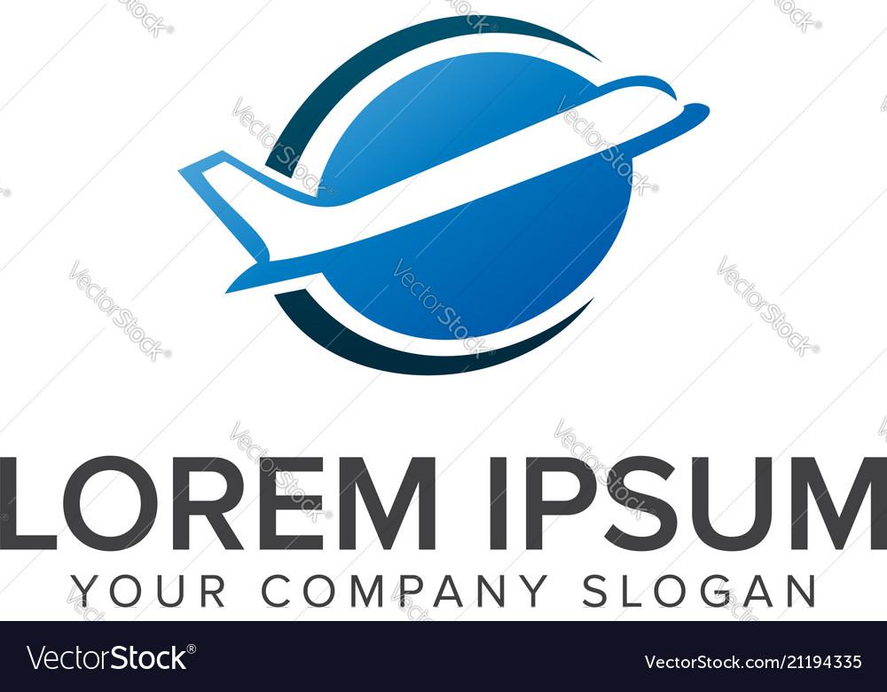 Aircraft plane logo travel logo design concept