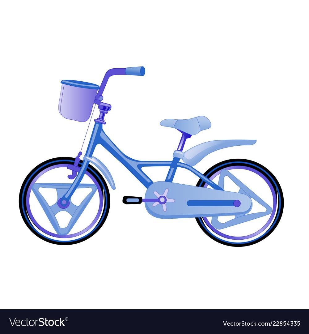 Blue children bike wheeled eco transport for kids