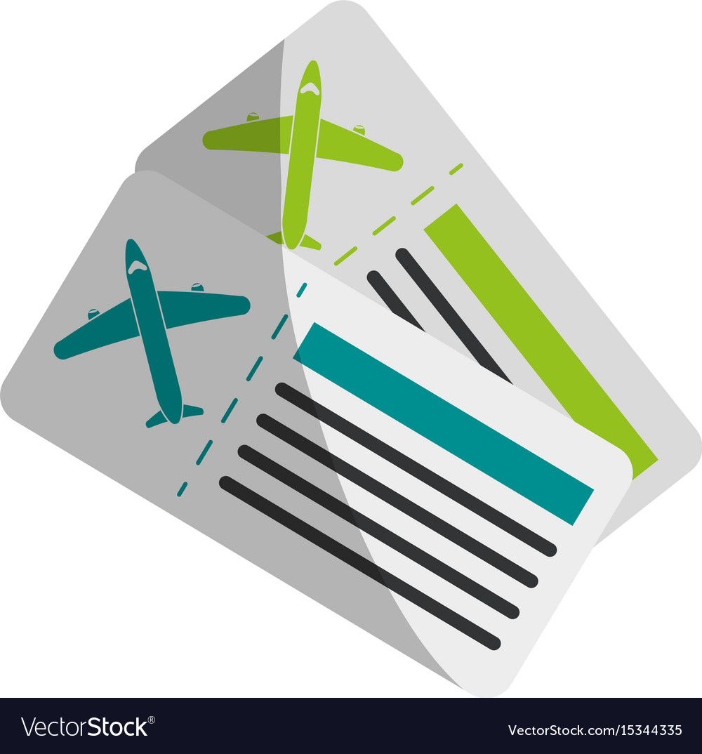 Boarding pass two icon image