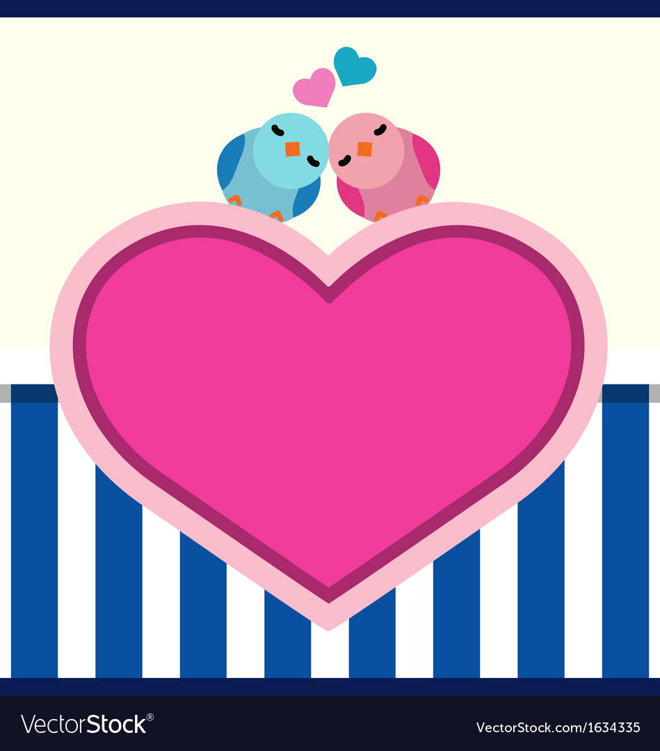 Couple of cute birds vector image