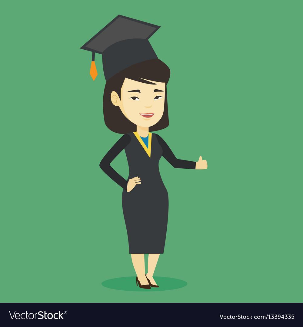 Graduate giving thumb up