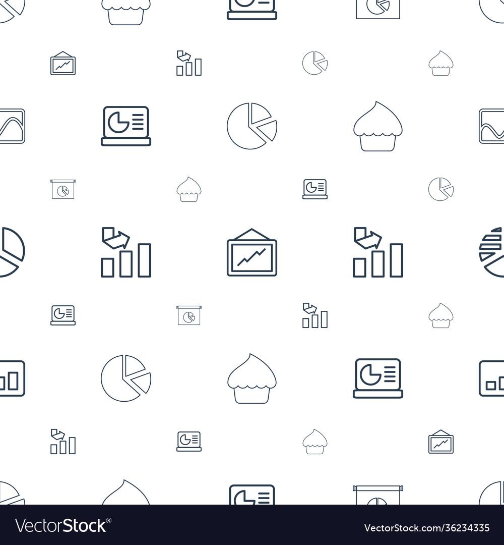 Pie icons pattern seamless white background