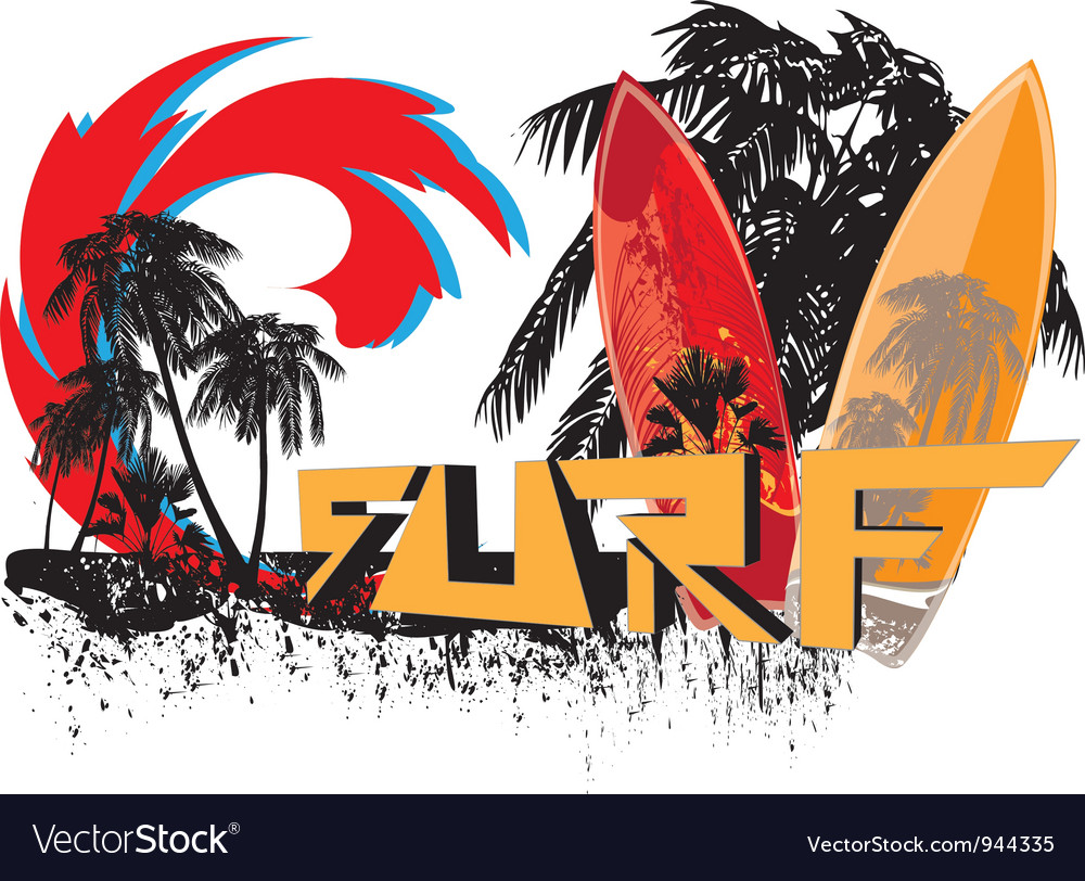 Surf background vector image