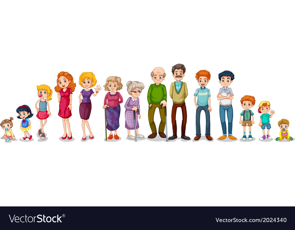 a big extended family royalty free vector image