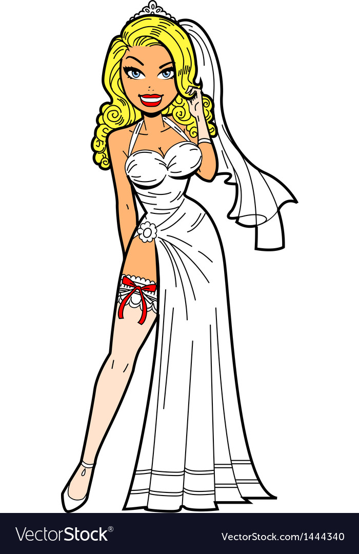 Bride With Garter vector image