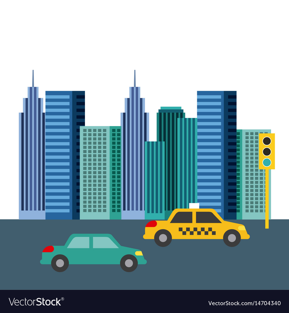 Buildings city skyline image vector image