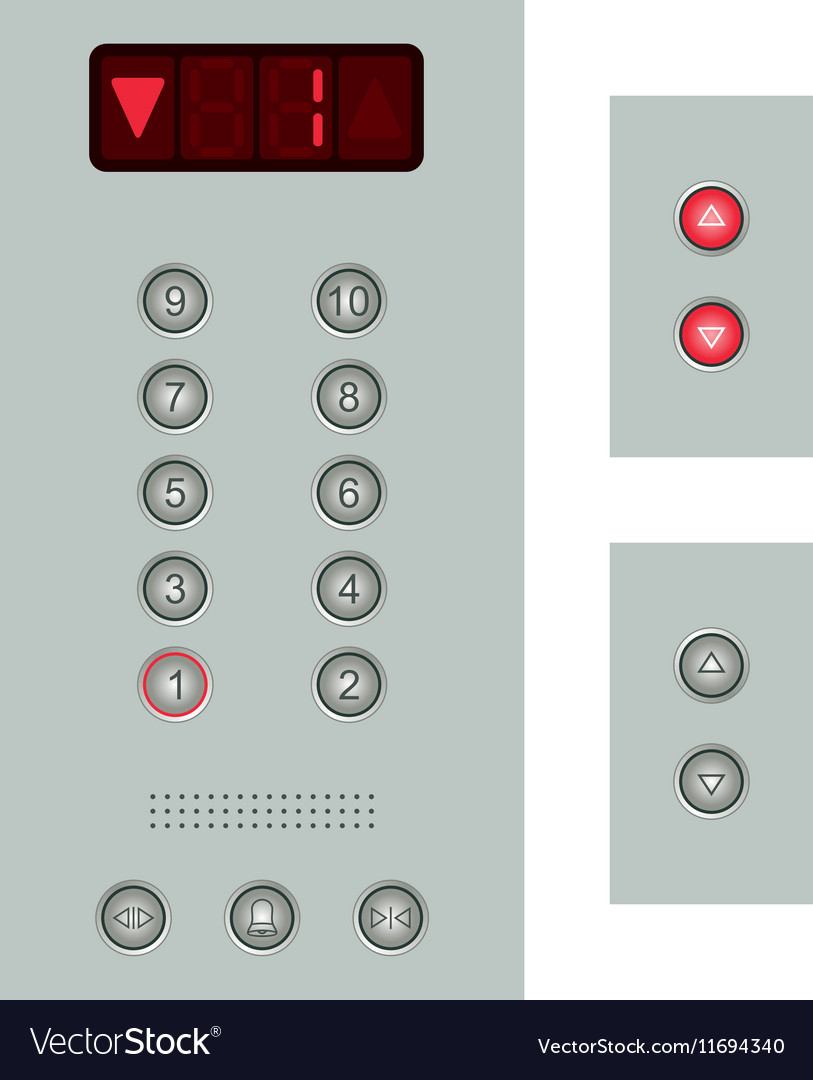 elevator buttons panel royalty free vector image