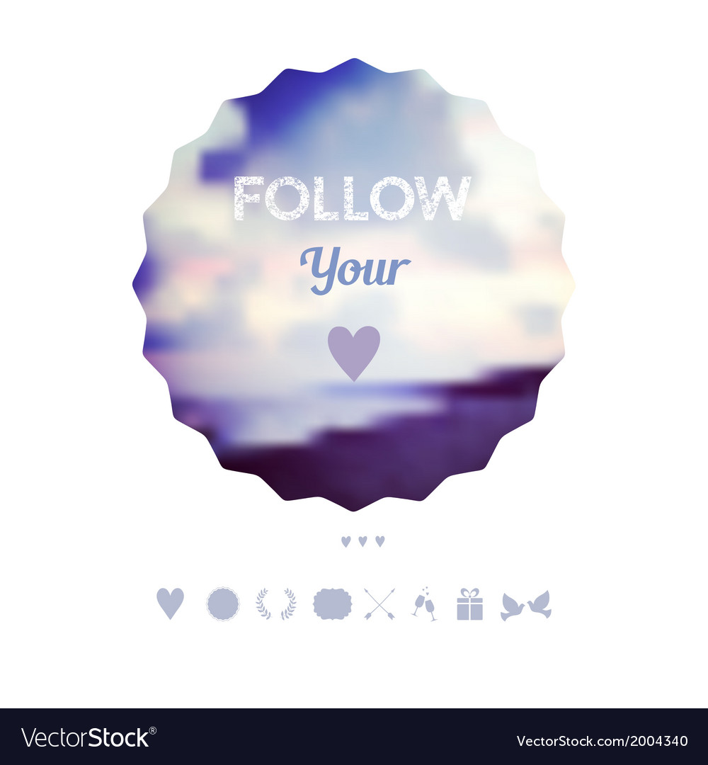 Follow your heart decoration Greeting card travel