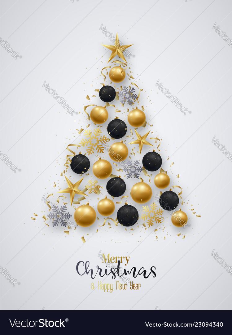 Black Christmas Balls.Golden And Black Christmas Balls Bright