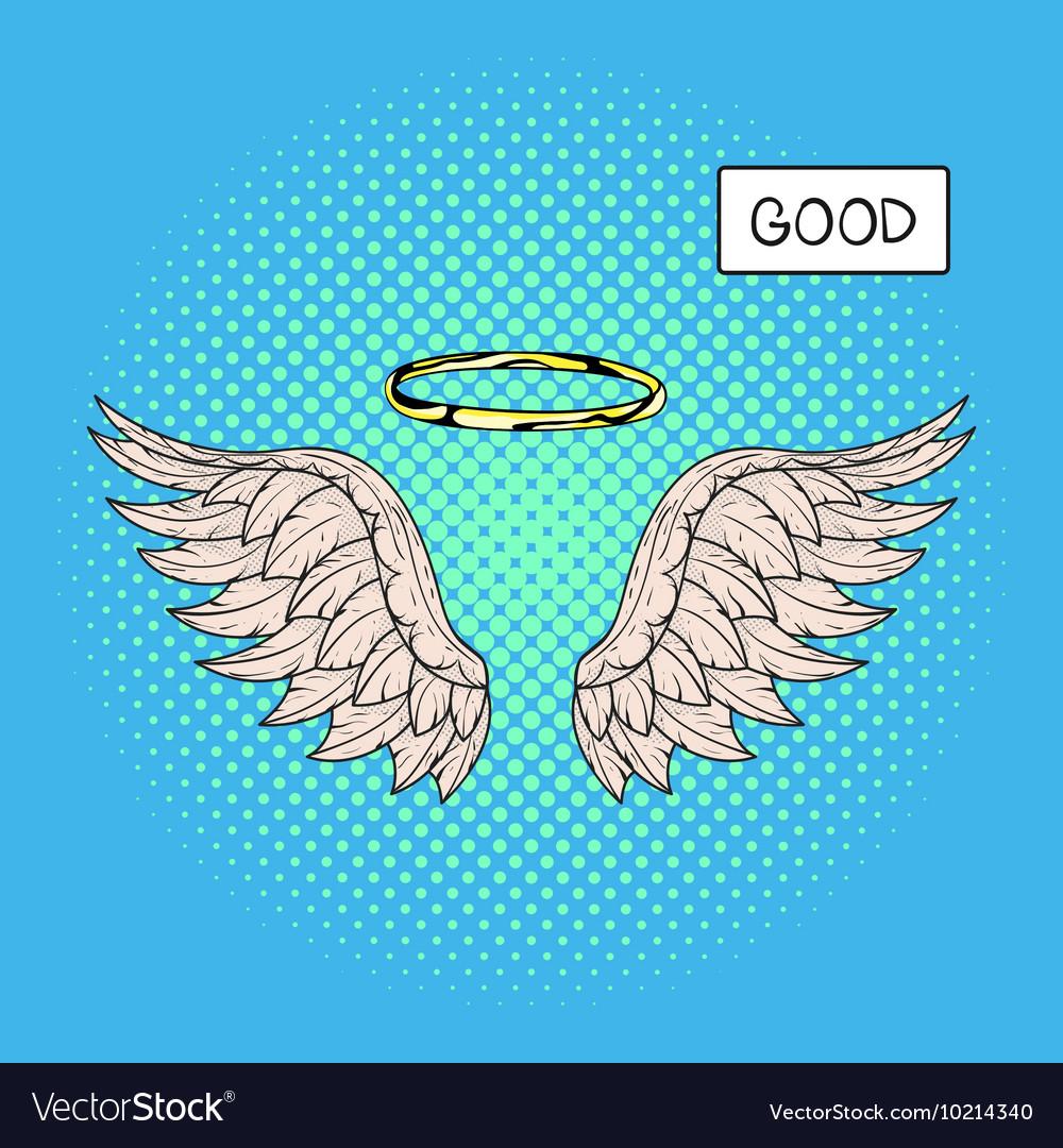 Картинка крыльев и нимб