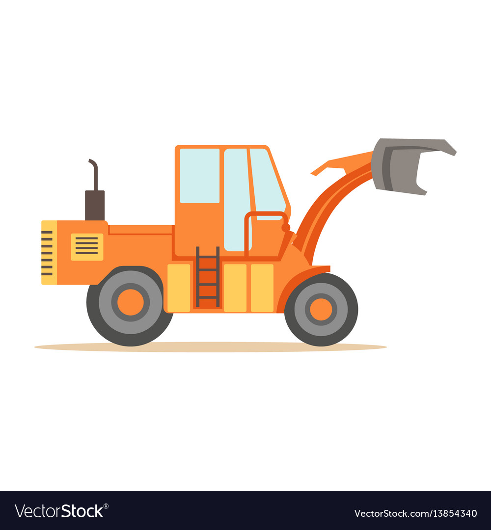 Road digger truck machine part of roadworks and