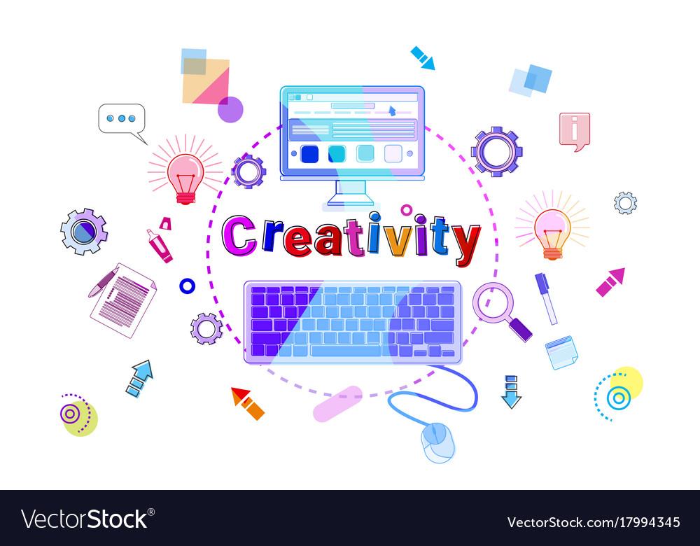 Creativity concept business idea startup