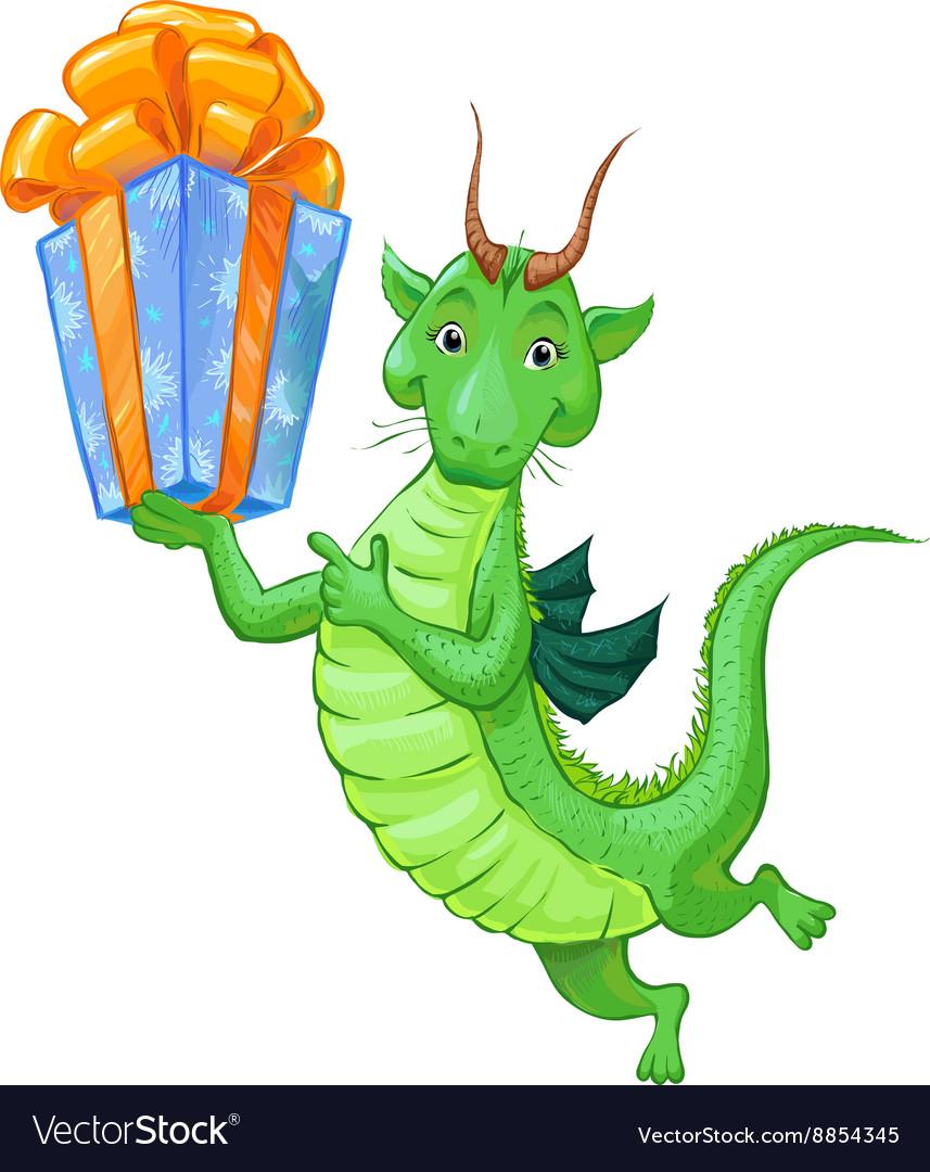 Dragon birth vector image