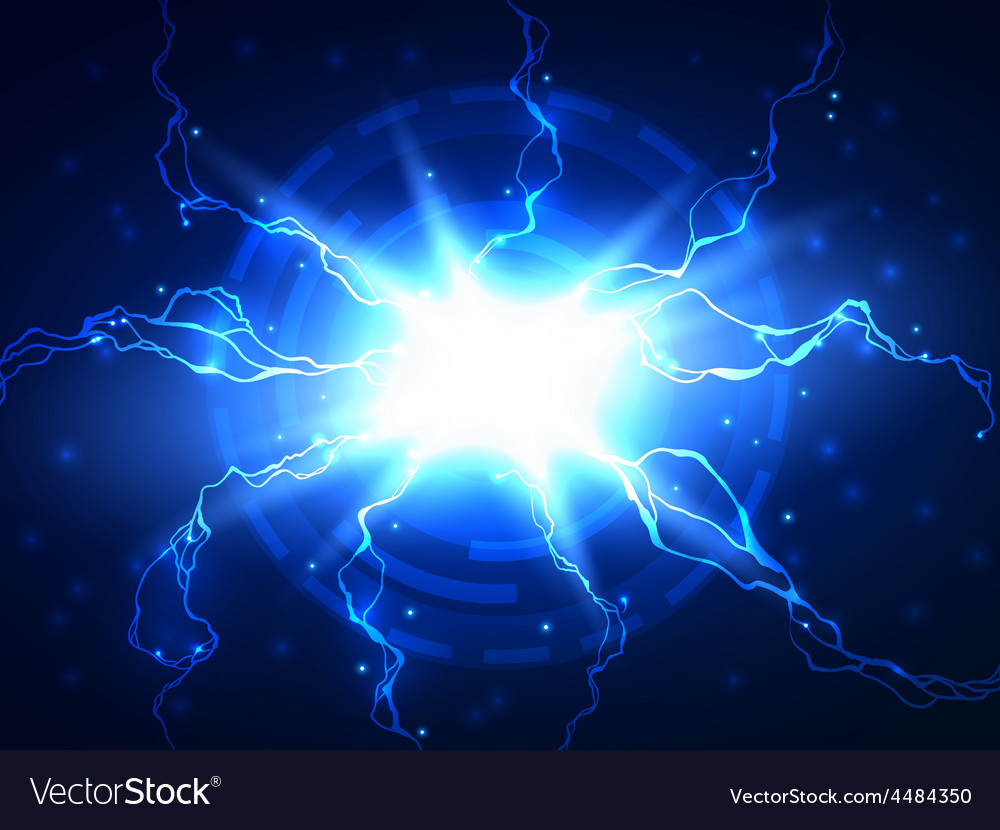 Abstract Blue Lightning Science Background