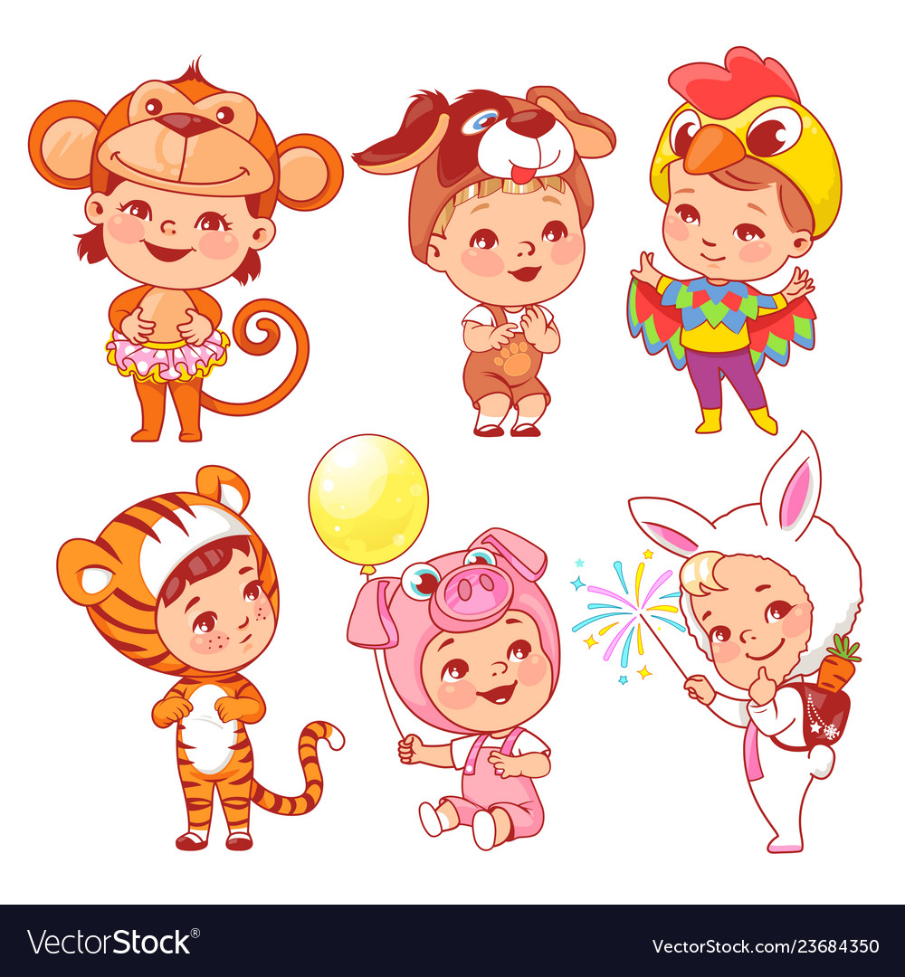 Cute little baby wear carnival costumes