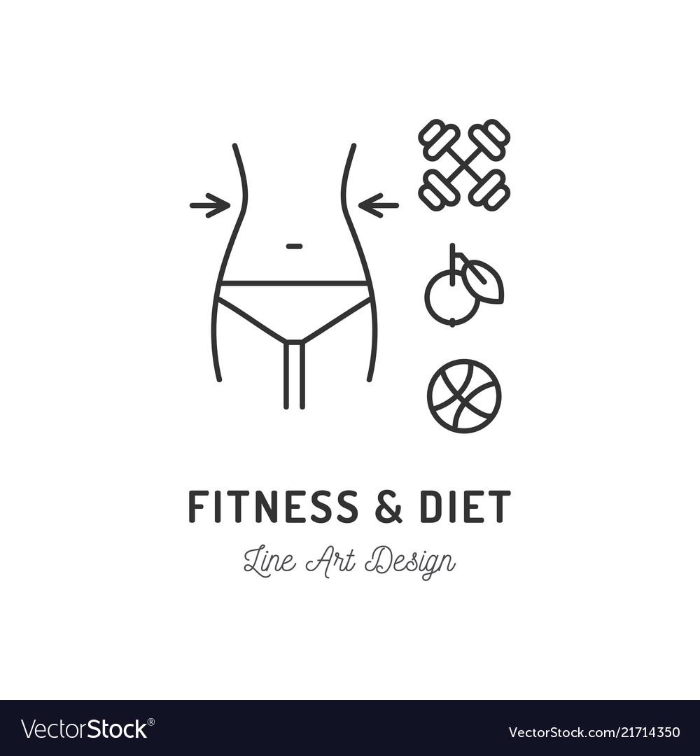 Fitness club logo diet icon healthy lifestyle