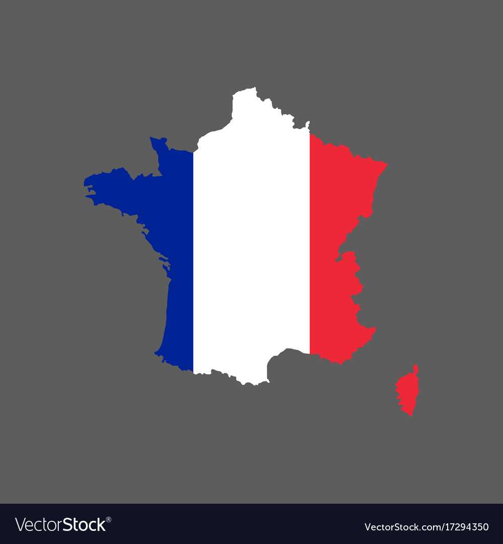 France Map Flag.France Flag And Map Royalty Free Vector Image Vectorstock